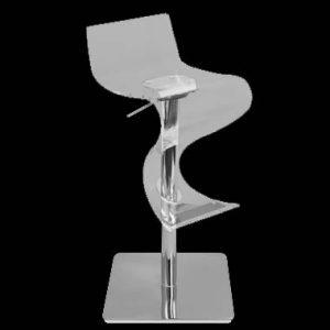 Acrylic Hydraulic Stool