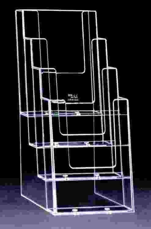 Acrylic brochure holder 12 epic events jamaica for Plastic flyer stand