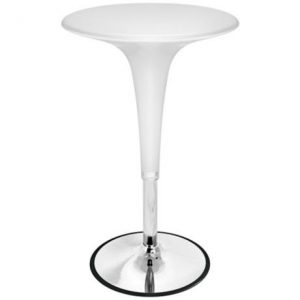 White Hydraulic Bistro Table