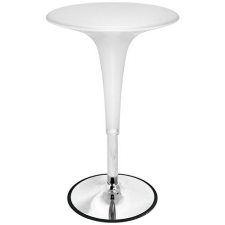 White Hydraulic Bistro Tables
