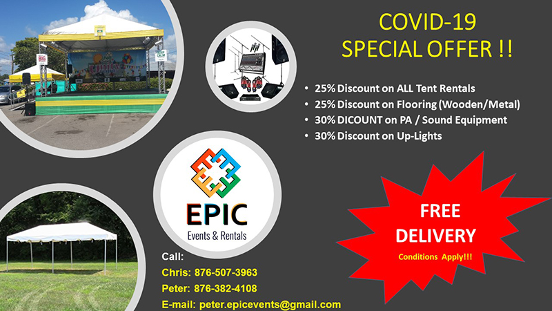 Special Pricing On All EPIC Events & Rentals Products & Services